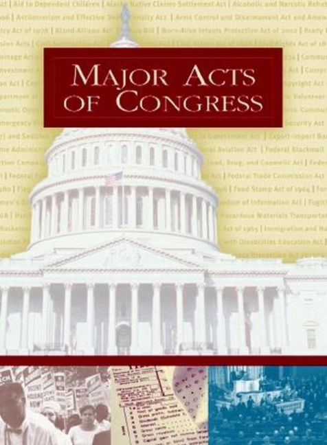 Major Acts of Congress - 9780028659091
