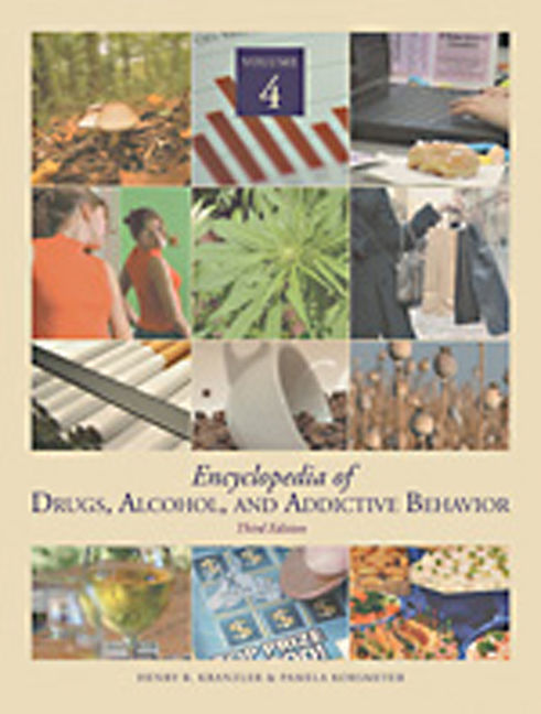 Encyclopedia of Drugs, Alcohol & Addictive Behavior - 9780028661148