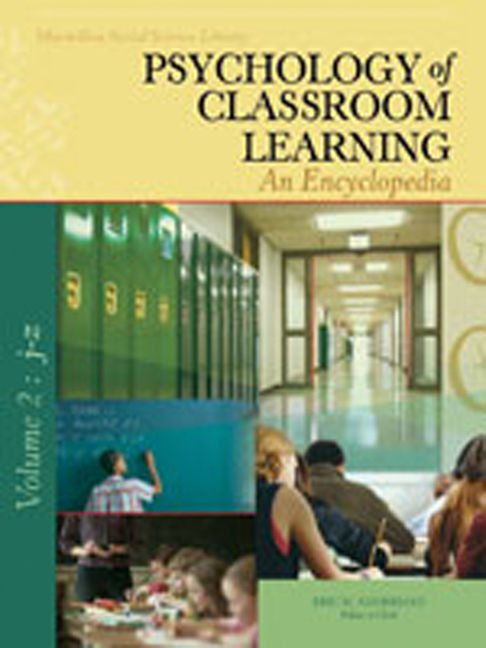 Psychology of Classroom Learning: An Encyclopedia - 9780028661704