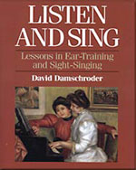 Listen and Sing: Lessons in Ear-Training and Sight-Singing - 9780028706658(Print)