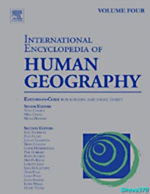 International Encyclopedia of Human Geography - 9780080449104