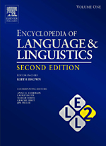 Encyclopedia of Language and Linguistic - 9780080547848