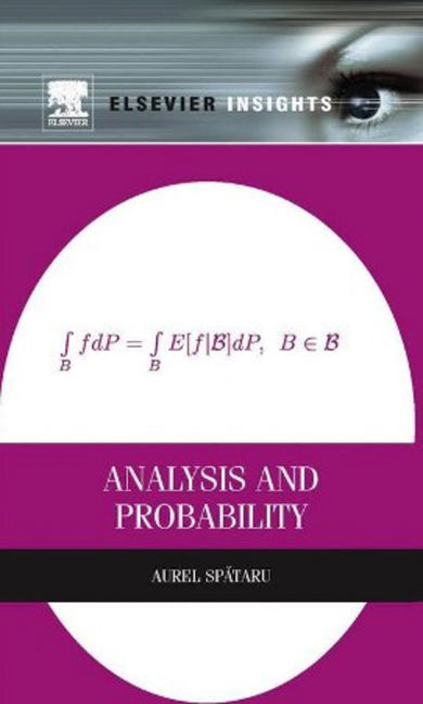 Analysis and Probability - 9780124017276
