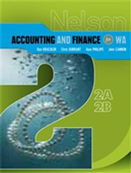 Nelson Accounting and Finance for WA 2A-2B - 9780170182041