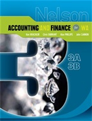 Nelson Accounting and Finance for WA 3A-3B - 9780170182058