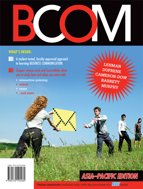 eBook: BCOM Asia Pacific Edition - 9780170220170(eBook)