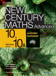 New Century Maths Advanced 10+10A for the Australian Curriculum NSW Stage 5.2/5.3 (Student Book with 4 Access Codes) - 9780170194662