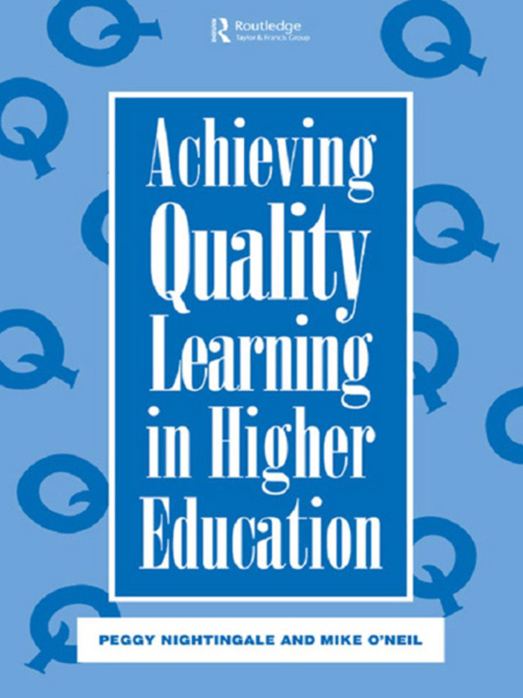 Achieving Quality Learning in Higher Education - 9780203062067