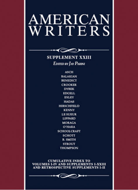 American Writers: Supplement XXIII - 9780684317021