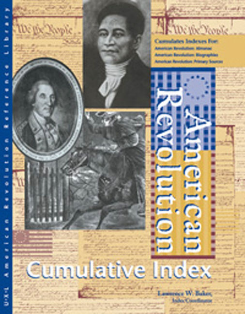 American Revolution Reference Library Cumulative Index - 9780787638177