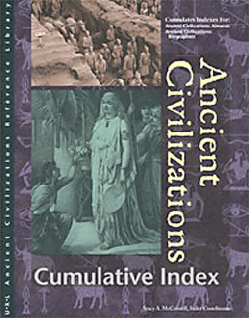 Ancient Civilizations Reference Library Cumulative Index - 9780787639815