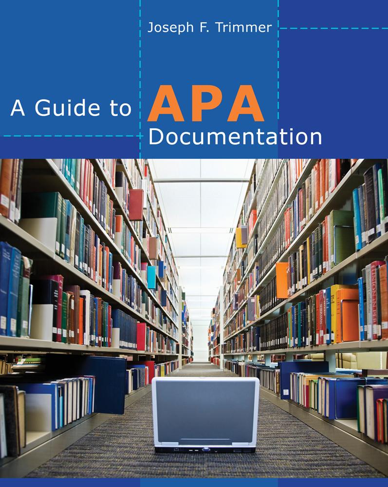 A Guide to APA Documentation - 9780840030108(Print)