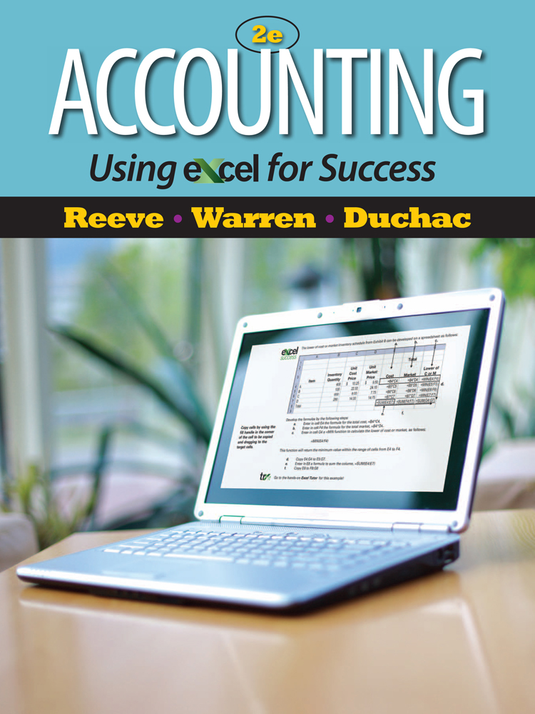 Accounting Using Excel® for Success - 9781111535216(Print)