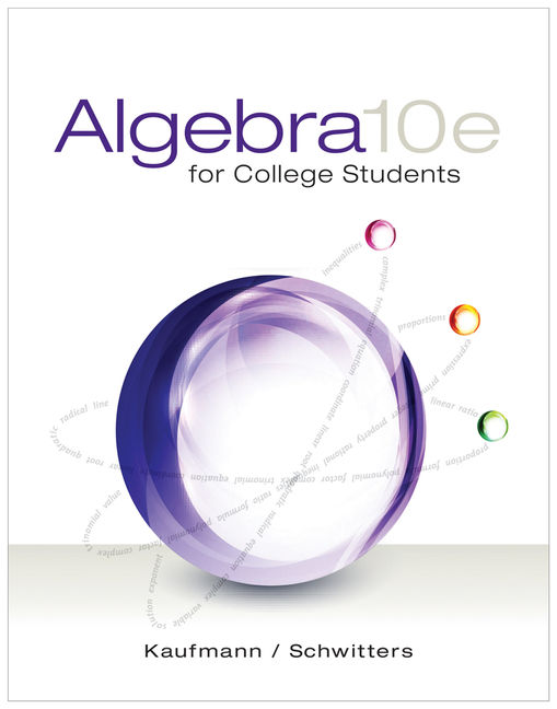 Algebra for College Students - 9781285195780(Print)