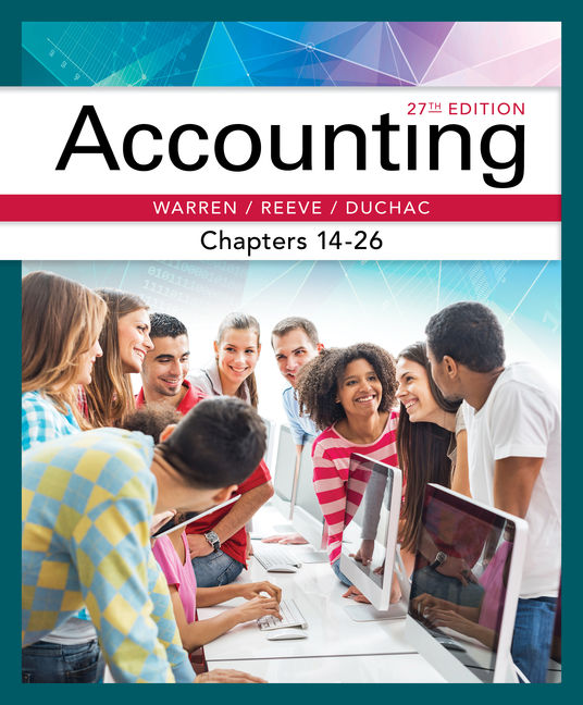Accounting, Chapters 14-26 - 9781337272117(Print)