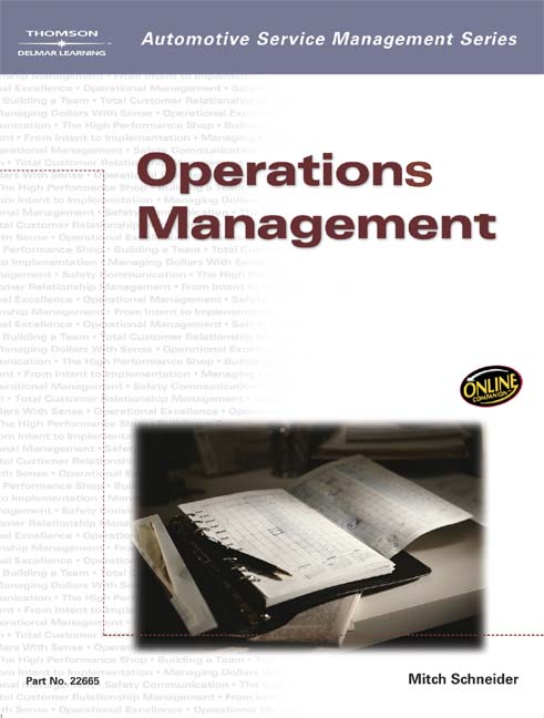 Automotive Service Management: Operations Management - 9781401826659(Print)