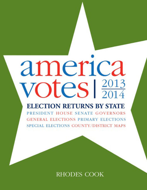America Votes 31: 2013-2014, Election Returns by State - 9781483383026