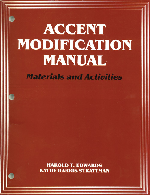 Accent Modification Manual: Materials and Activities - 9781565934528(Print)