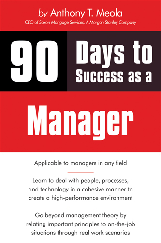 90 Days to Success as a Manager - 9781598638653(Print)