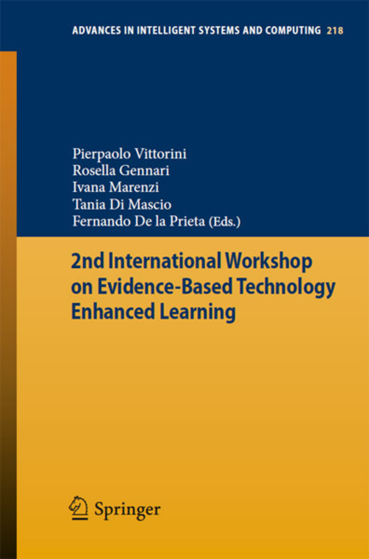 2nd International Workshop on Evidence-based Technology Enhanced Learning - 9783319005546