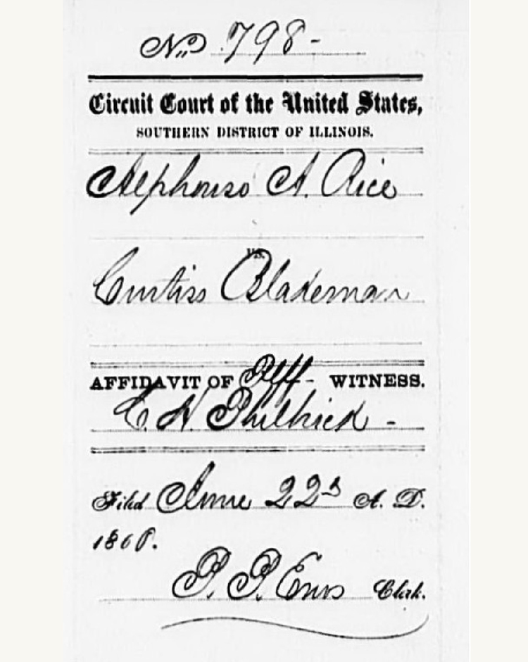 Lincoln at the Bar: Extant Case Files from the U.S. District and Circuit Courts, Southern District of Illinois 1855-1861 - 16179702