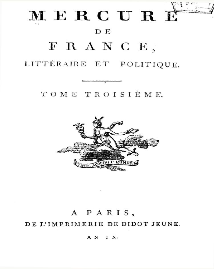 Mercure de France, 1672-1810 - 16225811