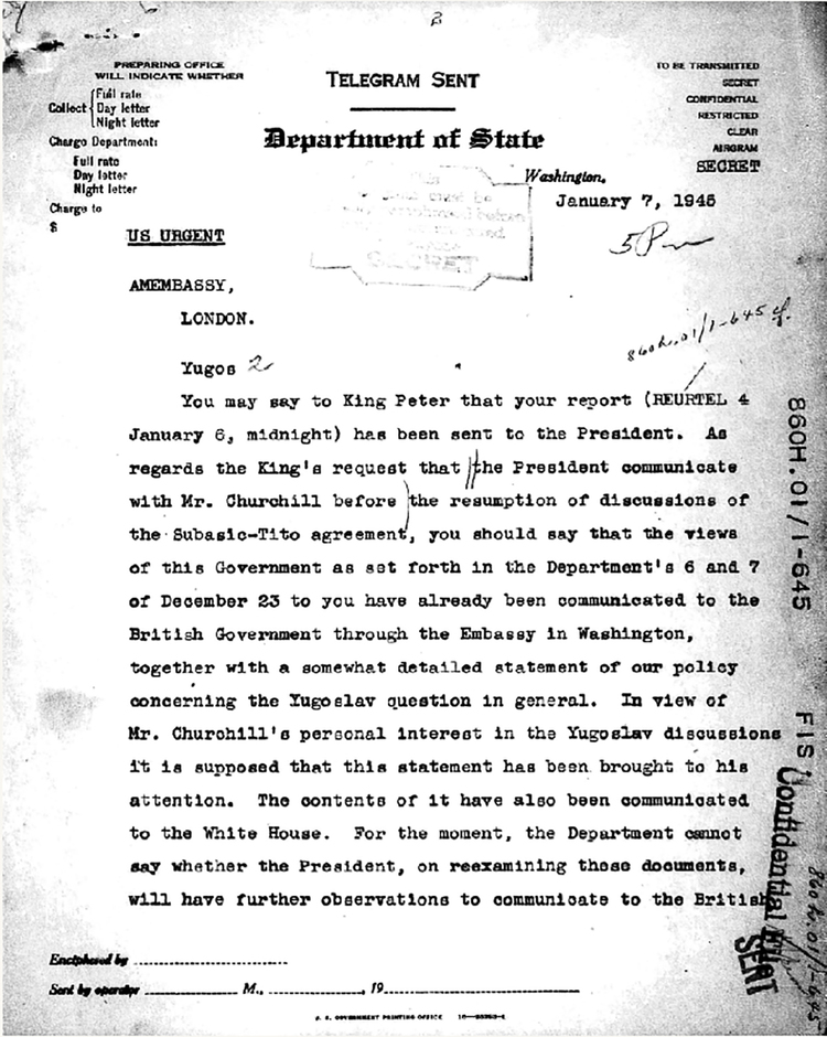 Socialism and National Unity in Yugoslavia, 1945-63: Records of the U.S. State Department Classified Files - 269430