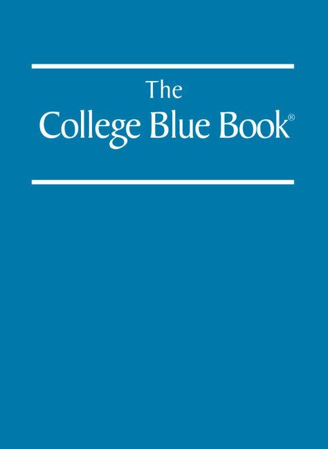 The College Blue Book - 9780028663142
