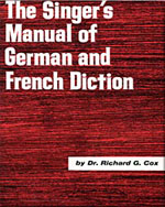 Singer's Manual of German and French Diction - 9780028706504