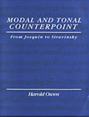 Modal and Tonal Counterpoint: From Josquin to Stravinsky - 9780028721453