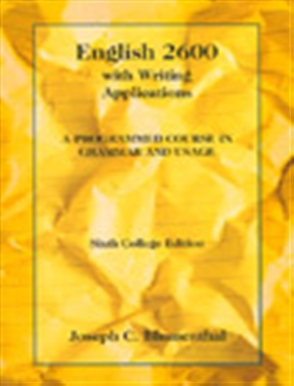 English 2600 with Writing Applications: A Programmed Course in Grammar and Usage - 9780155008625