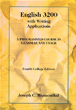 English 3200 with Writing Applications: A Programmed Course in Grammar and Usage - 9780155008656