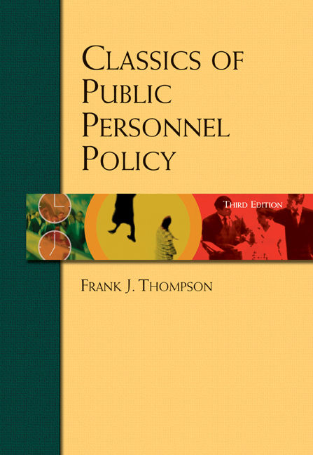 Classics of Public Personnel Policy - 9780155062788