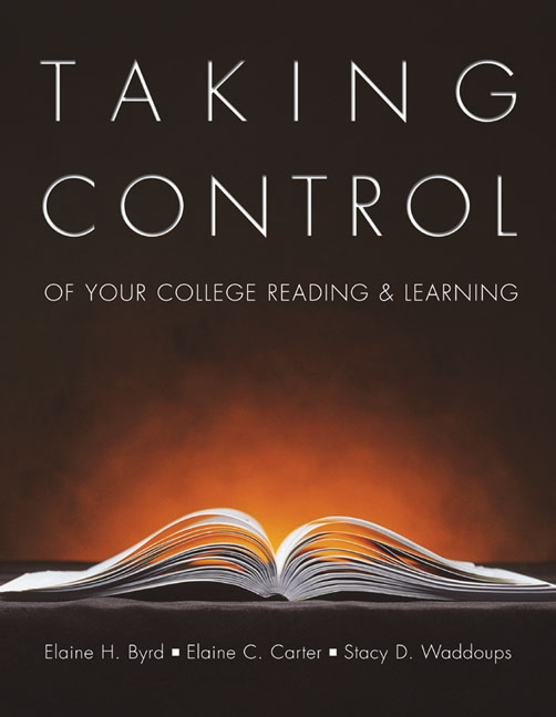 Taking Control of Your College Reading and Learning - 9780155063754