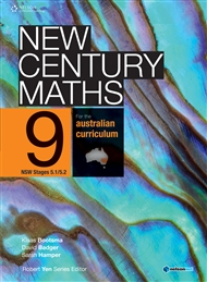 New Century Maths 9 for the Australian Curriculum NSW Stage 5.1/5.2 (Student Book with 4 Access Codes) - 9780170193047