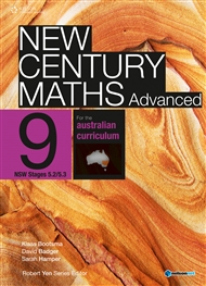 New Century Maths Advanced 9 for the Australian Curriculum NSW Stage 5.2/5.3 (Student Book with 4 Access Codes) - 9780170193085