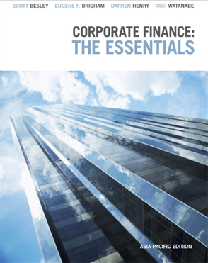 Corporate Finance: The Essentials: Asia-Pacific edition - 9780170210362