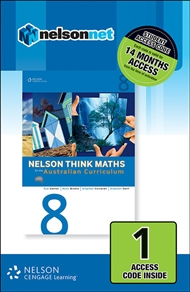 Nelson Think Maths 8 for the Australian Curriculum (1 Access Code Card) - 9780170214155