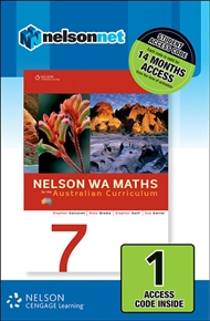 Nelson WA Maths 7 for the Australian Curriculum (1 Access Code Card) - 9780170214278