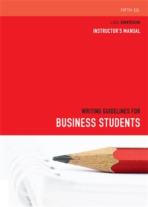 Writing Guidelines for Business Students - 9780170216388