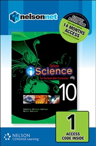 Nelson iScience Year 10 for the Australian Curriculum (1 Access Code Card) - 9780170218665