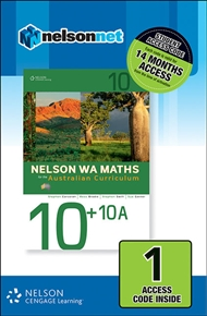 Nelson WA Maths 10+10A (1 Access Code Card) - 9780170218832
