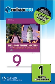Nelson Think Maths 9 for the Australian Curriculum (1 Access Code Card) - 9780170219136