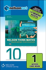 Nelson Think Maths 10 for the Australian Curriculum (1 Access Code Card) - 9780170219150