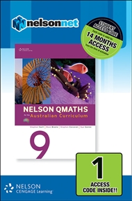 Nelson QMaths 9 for the Australian Curriculum (1 Access Code Card) - 9780170219204