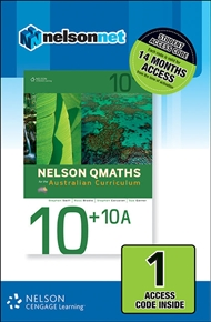 Nelson QMaths Advanced 10 + 10A for the Australian Curriculum (1 Access Code Card) - 9780170220385