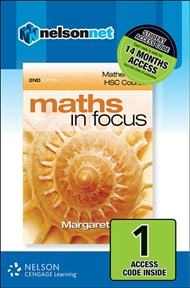 Maths in Focus: Mathematics HSC Course (1 Access Code Card) - 9780170226530
