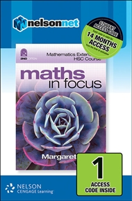 Maths in Focus: Mathematics Extension 1 HSC Course (1 Access Code Card) - 9780170226592