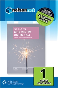 Nelson Chemistry Units 3 & 4 for the Australian Curriculum (1 Access Code Card) - 9780170246750