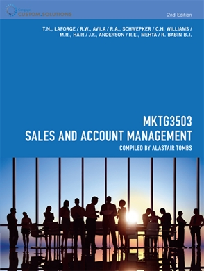 CP0893 MKTG3503 Sales and Account Management - 9780170254700